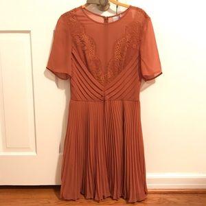 ASOS Chiffon Pleated Dress